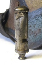 WWI Whistle Battle Damaged